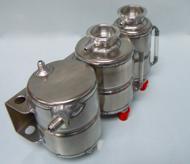 Water header tanks and petrol swirl pot combination
