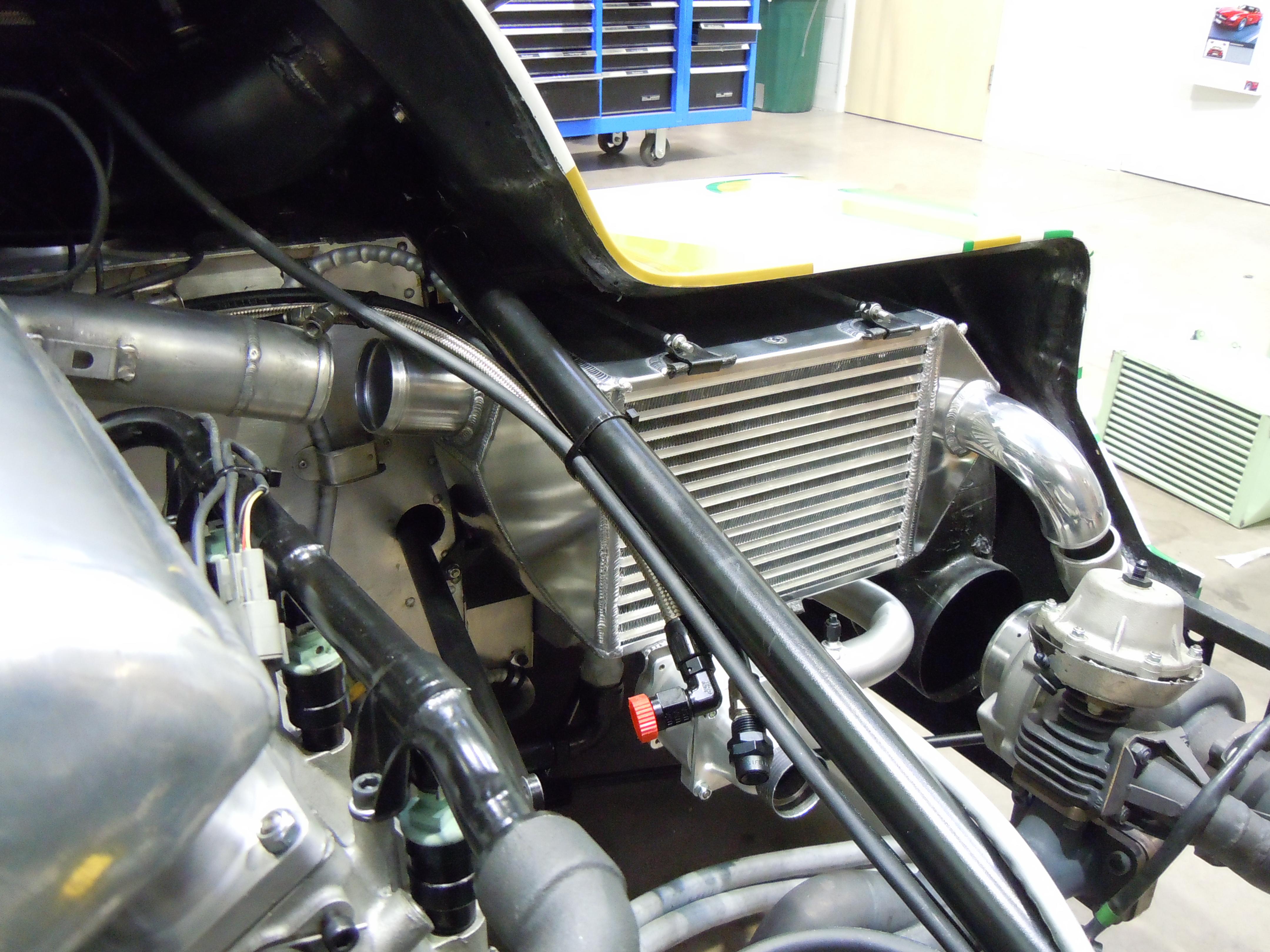 Porsche 962 Intercooler Fitted