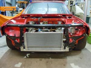 Alfa 33 Aluminium Radiator and Oil Cooler Mounted