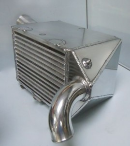Porsche 963 Intercooler -aerospace style core, which is a welded plate and bar construction