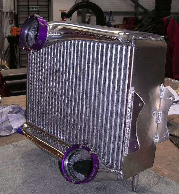 Toyota Celica Intercooler – braised tubular core construction. Shaped end tanks to improve flow